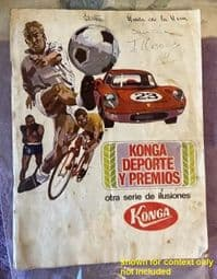 1966 Konga Beckenbauer 182 Spanish rarity - see supporting photo of the album cover - the only 1?